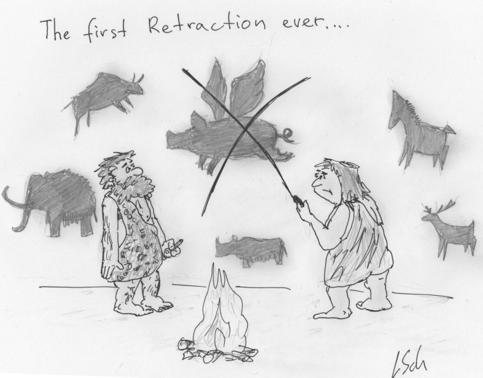 first retraction