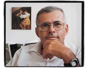 Yehiel Zick, Weizmann's resident Western blot artist; by SmutClyde