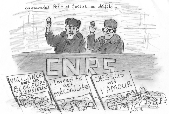 Pravda of Jessus report, CNRS Politburo scared of own people