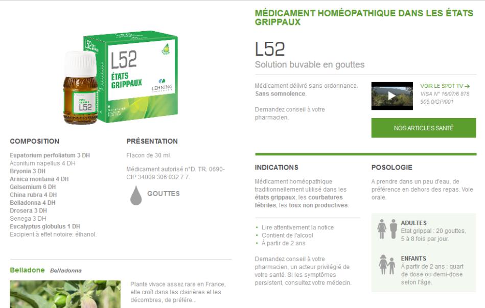Screenshot_2018-12-04 Médicament Homéopathique L52 - États Grippaux - Laboratoires Lehning