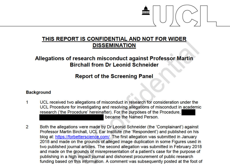 Martin Birchall innocent, UCL decides once again – For